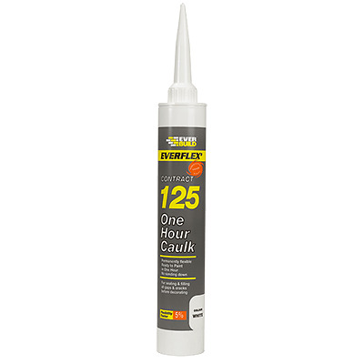 EVERBUILD Decorators 125 One Hour Caulk Quick Drying Paintable Magnolia 300ml