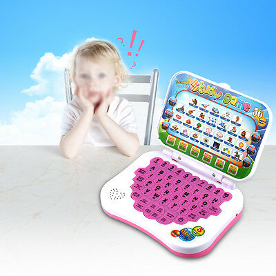 1Pc Plastic Bilingual Learning Toy Baby Kids Laptop Computer Educational Game SG