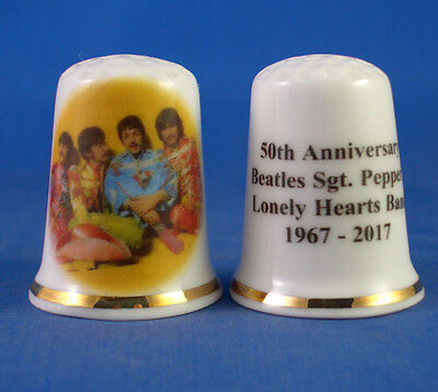 Porcelain China Collectable Thimble Beatles Story Liverpool with Free Gift Box