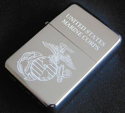 US Marines Engraved Fuel STAR Lighter With Gift Box