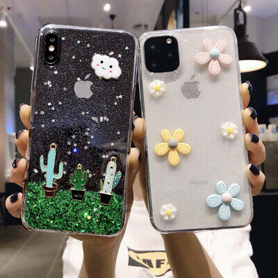 3D Cute Cartoon Soft Back Case Cover For Samsung Galaxy A7 2018 S9 S8 Note 9 J7