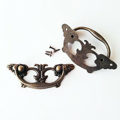Retro Butterfly Furniture Cabinet Dresser Cupboard Chest Drawer Pull Handle Knob