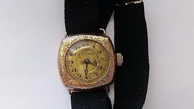 1920s A.Lecoultre Women's Vintage Wrist Watch Gold Filled 15 Jewels.