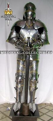MEDIEVAL Fully WEARABLE KNIGHT GOTHIC FULL SUIT OF ARMOR