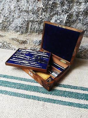 A Victorian Set of Army & Navy Drawing Instruments