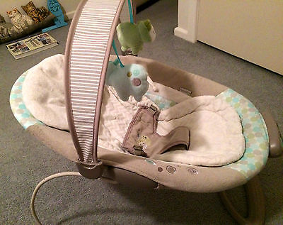 Beautiful baby Bouncer With Toy Bar and music