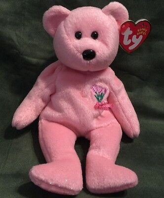 Ty Beanie Baby - Mum - Pink Mother's Day Teddy Plush Bear