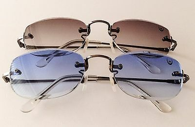 Women's Men's Unisex Vintage Retro Dunlop Sunglasses Blue Or Black  Free Uk P&p