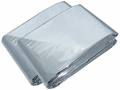 Am-Tech 2pc Emergency - Survival Rescue Blankets - First Aid - S4680