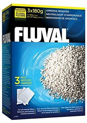 Fluval Ammonia Remover Reduces Stress Fish Tank Filter 3 x 180G/Pack of 1