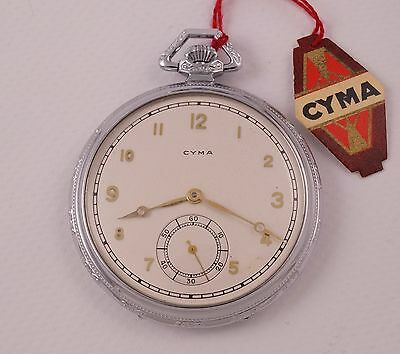 CYMA 1930's Art Deco Era NEW OLD STOCK Swiss Pocket Watch UNIQUE !!!