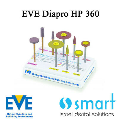 Dental Eve Diasynt Plus Diapro HP 360 diamond Polishing zirconia silicate cerami
