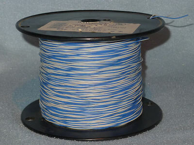 Partial 1000 Foot Spool Cross Connect Wire. Blue/White Pair. 22 AWG, Phone, Bell