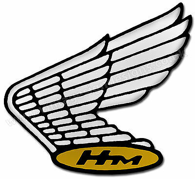 """Vintage Honda Wing Logo Digitally Cut Out Vinyl Sticker. 4.5"""" X 4"""" Overall Size"""