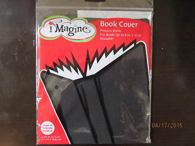 "Book Cover By Imagine (Fits Books Up To 8"" X10"") Plain Black Design"