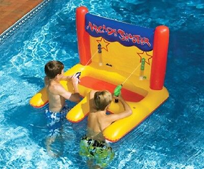 Swimline 90772 Arcade Shooter Pool Game Inflatable Carnival Style Water Race