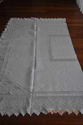 """Antique Large English Tablecloth - 82"""" X 86"""""""