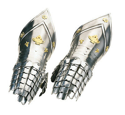 Guanteletes Cincelados Gold Chiselled Gloves Armor-Replica-Official Marto-Toledo