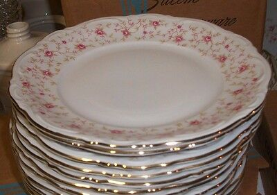 Mitterteich LADY CLAIRE China GERMANY Bavaria Set of 5 Dinner plates-mint