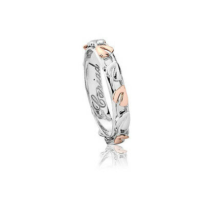Official Welsh Clogau Silver & Rose Gold Tree of Life Ring RRP £99 Size Q