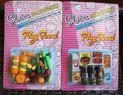 NEW GLORIA DOLL HOUSE FURNITURE Vegetable(95021)+Can Food(95022)