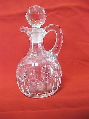 """Vintage Eapg Crystal 6 1/2"""" Cruet With Stopper"""
