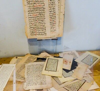 1700s-1800s Original Collection 50+ Manuscript Leaves ISLAMIC Tibetan Turkish