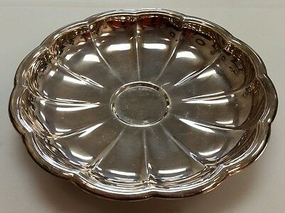 Italy El De Uberti Silver Plated Round Footed Scalloped Serving Dish Bowl