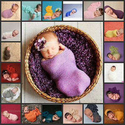 150×40cm Newborn Stretch Knit Wrap Photography Nubble Wraps Props Baby Kids Cozy