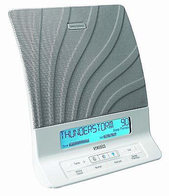 USED Homedics HDS-2000 Deep Sleep II Relaxation Sound White Noise MISSING REMOTE