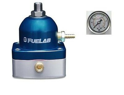 FUELAB EFI Fuel Pressure Regulator 515 Series & Pressure Gauge (BLUE)  #51502-3