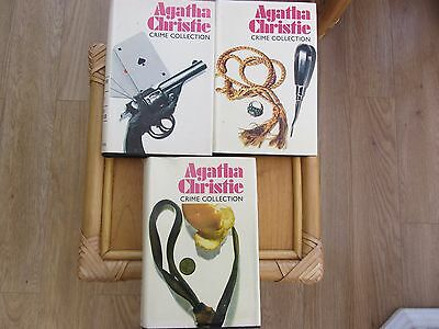 3  Agatha Christie Crime Collection Books(9 Stories) 1970's Vintage Hamlyn H/B