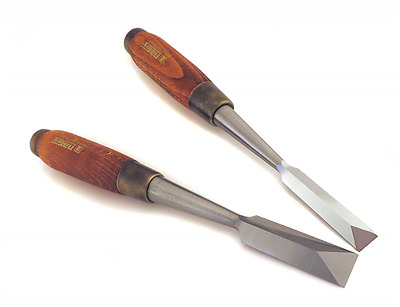"""Narex Pair 1/2"""" and 3/4"""" Dovetail Japanese Style Chisels"""