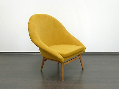 1 of 2 Vintage Renewed Retro MidCentury Danish Style Armchair 1960's 1970's