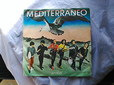Single Mediterraneo - Arrabal - Chapa Discos Spain 1982 Vg/vg+