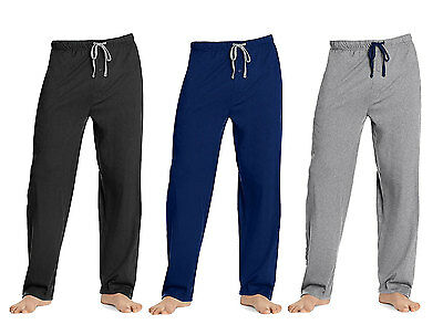 Hanes Men's Solid Knit Sleep Lounge Pant, in 3 Colors and all Sizes up to XXL