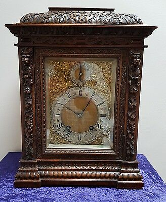 A Victorian 1/4 striking walnut bracket clock by Lenzkirch - Quality timepiece