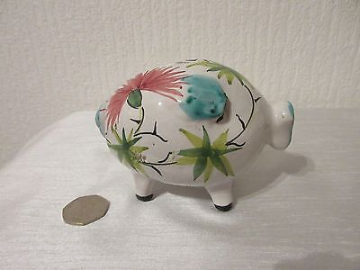 Pretty Vintage  POTTERY PIG PIGGY BANK / MONEYBOX Handmade in Italy