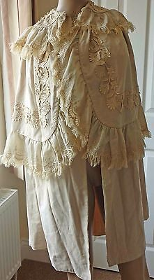 Edwardian Ladies Cape, Silk Embroidery & More