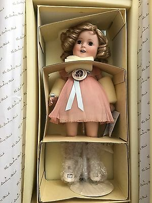 """Danbury Mint The World's Darling Shirley Temple Porcelain Doll 14"""""""