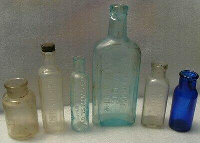 Antique/Vintage Drug Store Bottles Lot