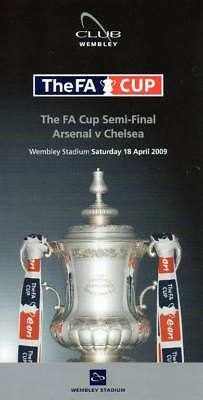 Chelsea v Arsenal 2009 FA Cup Semi Final Itinerary Card