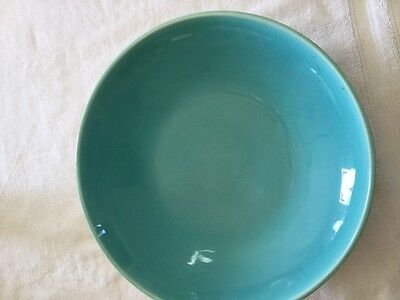 Catalina Pottery turquoise 13 in. Bowl.  Excellent condition.  Cream underside a