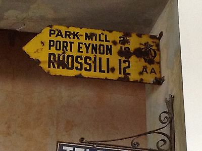 Enamel Road Sign From The Gower