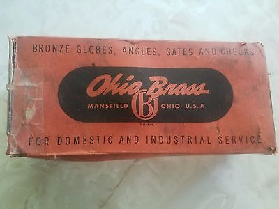"Vintage Ohio Brass Gate Valve 2"" BOX ONLY Mansfield Ohio"