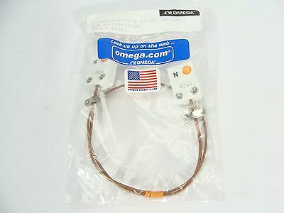 "NEW Omega TT-N-24 Type N Thermocouple Extension Cable F-F 15"" Length"