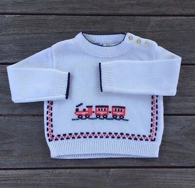 Boys True Vintage MINIATURES IN FASHION Train / Locomotive Sweater - Size 12M