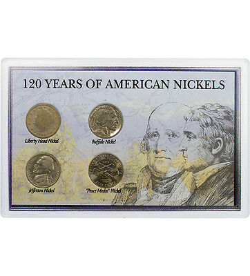 120 Years of American Nickels Buffalo Liberty Jefferson Peace US Coin  C3791
