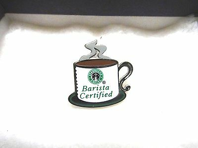 Vintage Starbucks Coffee Cup Barista Certified Pin #1