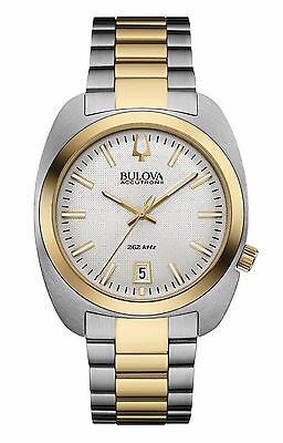 Bulova Accutron II Men's 98B272 Quartz Silver Dial Two-Tone Bracelet 40mm Watch